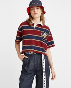 Levi's® x Felix the Cat™ 크롭 럭비 셔츠