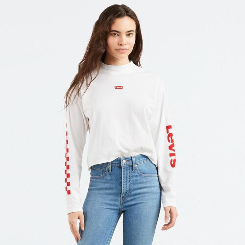 그래픽 모크넥 티셔츠