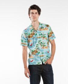 숏 슬리브 하와이안 셔츠