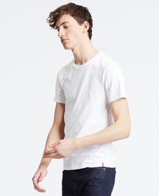 슬림 핏 크루넥 티셔츠 (2세트)