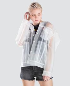 클리어 배기 트러커 자켓