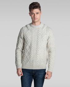피셔맨 케이블 크루 스웨터