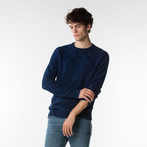 골지 크루 스웨터