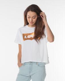 그래픽 J.V. 크롭트 티셔츠
