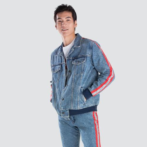 언베이직 봄버 트러커 자켓