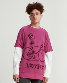 Levi's® x Peanuts® 컷-오프 크루넥 스웻셔츠