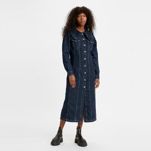Levi's® x GANNI 롱 칼라 드레스