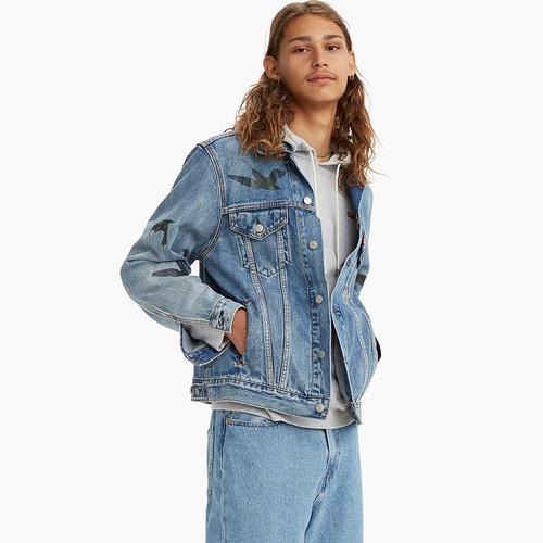 빈티지 핏 트러커 진 자켓