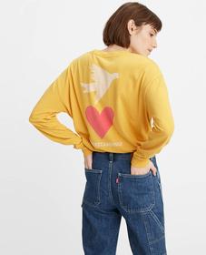 그래픽 오버사이즈 롱 슬리브 티셔츠
