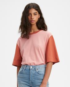 오버사이즈 슬리브 티셔츠